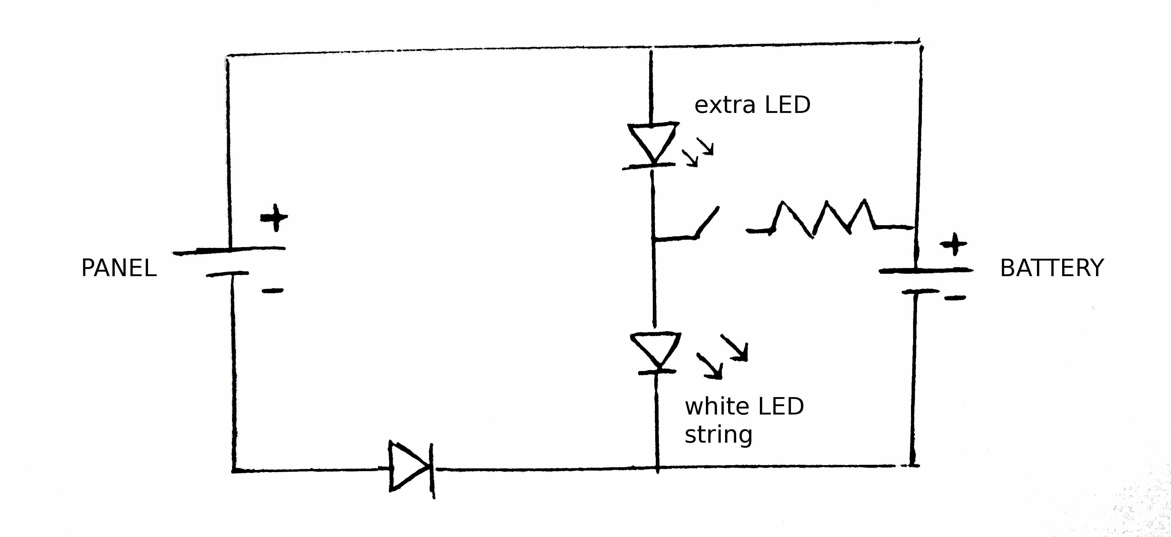 Lessonssolar06lampcircuitdesign2draft Pen Wiki Solar Cell And Motor Circuit With Electron Flow Lamp 2